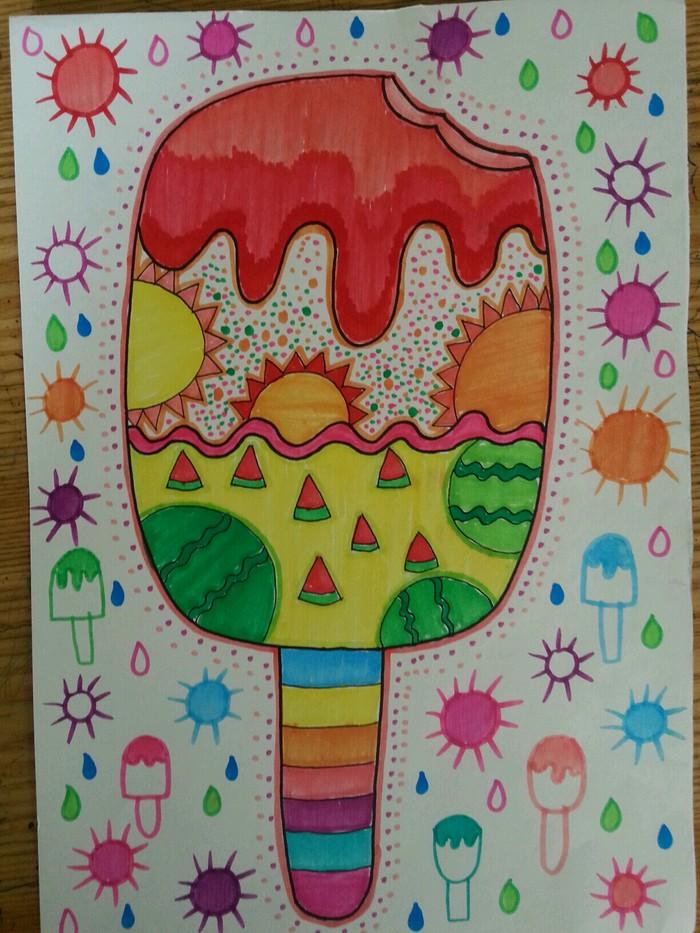 雪糕-水彩画图集
