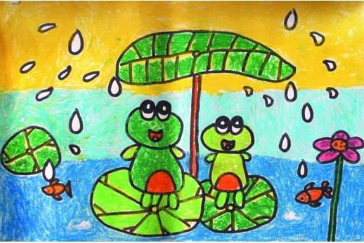 钓鱼 水彩画图集图片 儿童水彩画 少儿图库 中国儿童