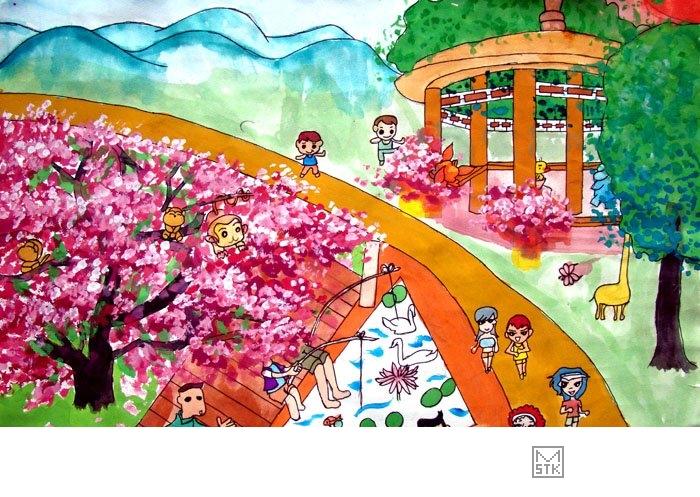 风景水彩画图集-水彩画图集图片_儿童水彩画_少儿图库