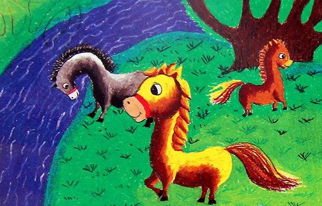马-水彩画图集