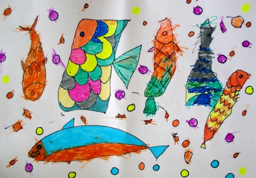鱼-水彩画图集