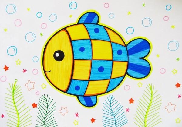 鱼-水彩画图集图片_儿童水彩画_少儿图库_中国儿童