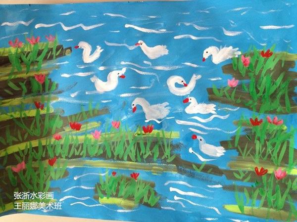 鸭子-水彩画图集