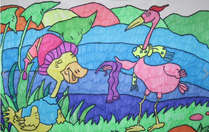 鸭子-水彩画图集图片_儿童水彩画_少儿图库_中国儿童