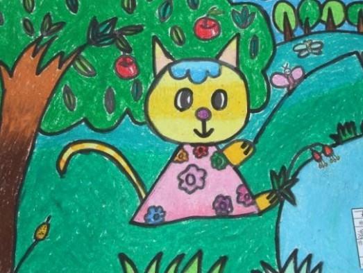 假期-蜡笔画图集图片_儿童蜡笔画_少儿图库_中国儿童