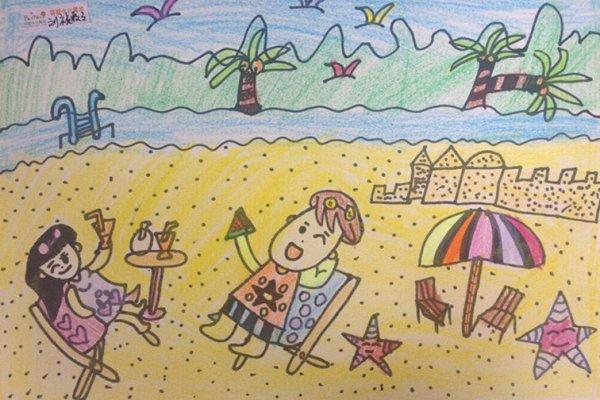 幼儿海边简笔画