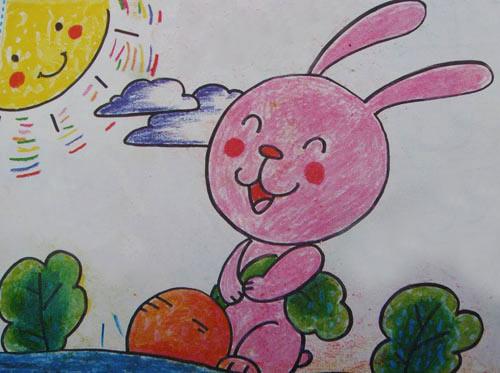 兔子-蜡笔画图集图片_儿童蜡笔画_少儿图库_中国儿童