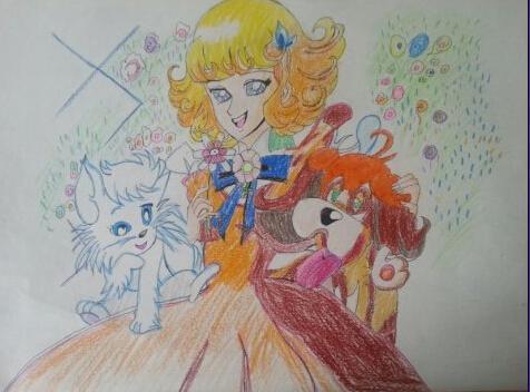 公主-蜡笔画图集图片_儿童蜡笔画_少儿图库_中国儿童