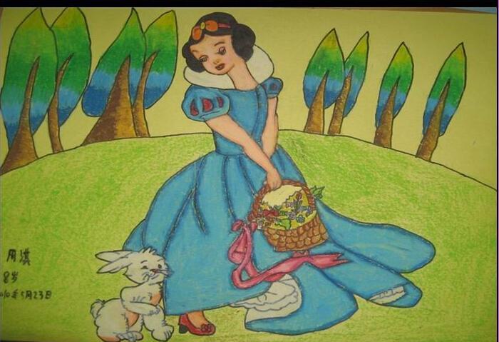 公主-蜡笔画图集