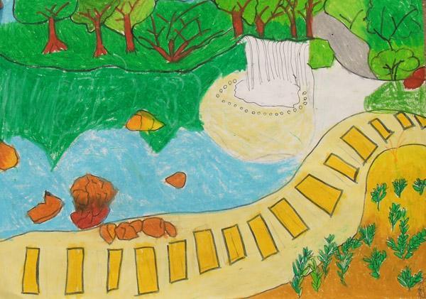 公园-蜡笔画图集图片_儿童蜡笔画_少儿图库_中国儿童
