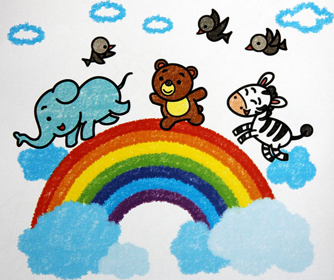 动物-蜡笔画图集