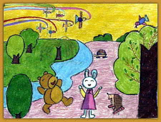 动物-蜡笔画图集21