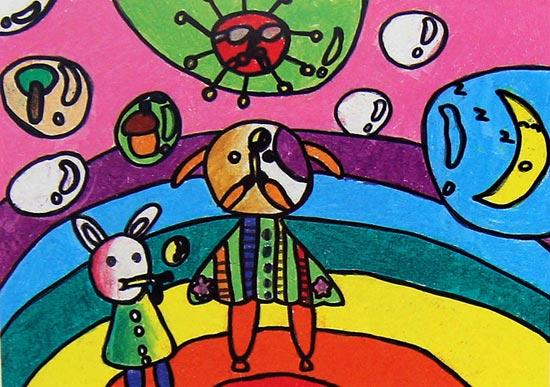 动物-蜡笔画图集图片_儿童蜡笔画