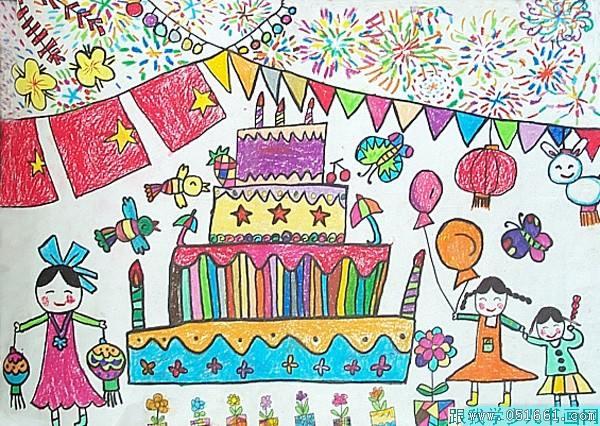 国庆节-蜡笔画图集图片_儿童蜡笔画_少儿图库_中国