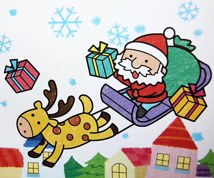 圣诞老人-蜡笔画图集图片_儿童蜡笔画_少儿图库_中国