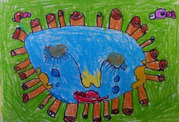 儿童运动简笔画 踢足球的男孩简笔画图片