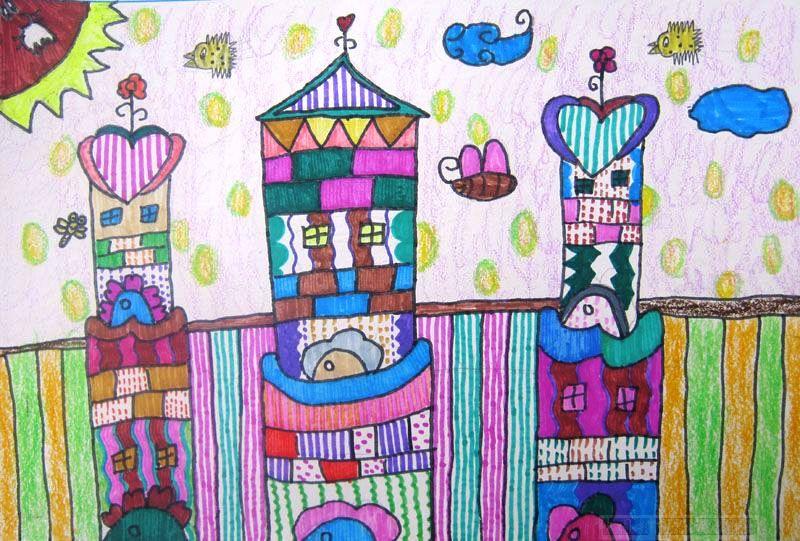 城堡-蜡笔画图集