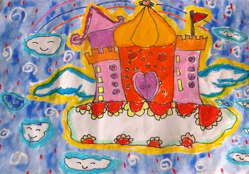 城堡-蜡笔画图集图片_儿童蜡笔画_少儿图库_中国儿童