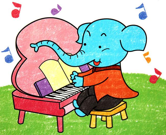 大象-蜡笔画图集图片_儿童蜡笔画_少儿图库_中国儿童