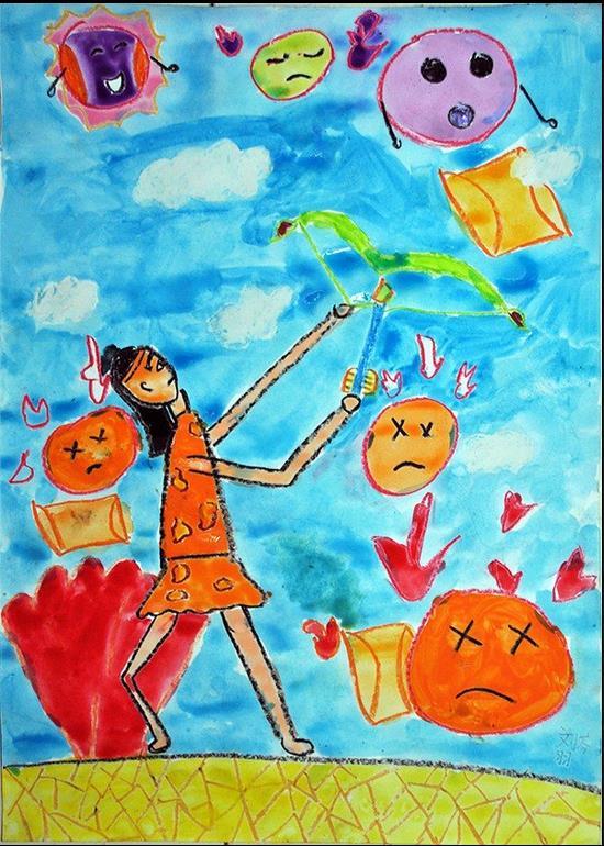 太阳-蜡笔画图集图片_儿童蜡笔画_少儿图库_中国儿童