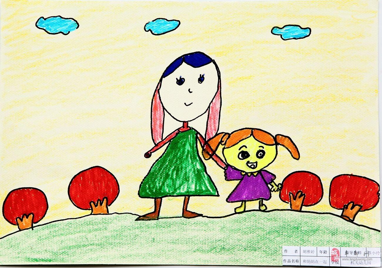 妈妈-蜡笔画图集图片_儿童蜡笔画_少儿图库_中国儿童