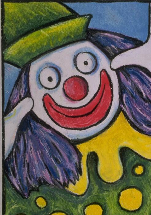 小丑-蜡笔画图集图片_儿童蜡笔画_少儿图库_中国儿童