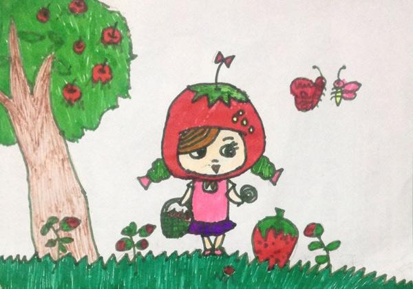小女孩-蜡笔画图集图片_儿童蜡笔画_少儿图库_中国