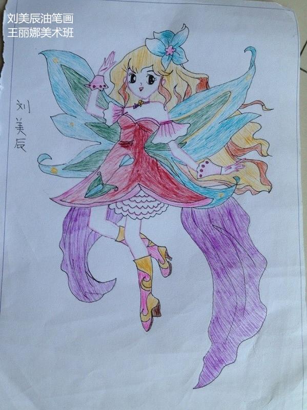 小女孩-蜡笔画图集