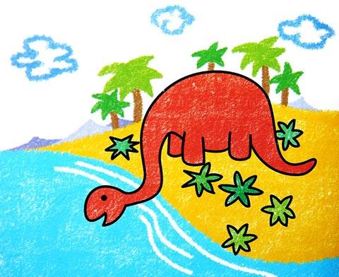 小恐龙-蜡笔画图集