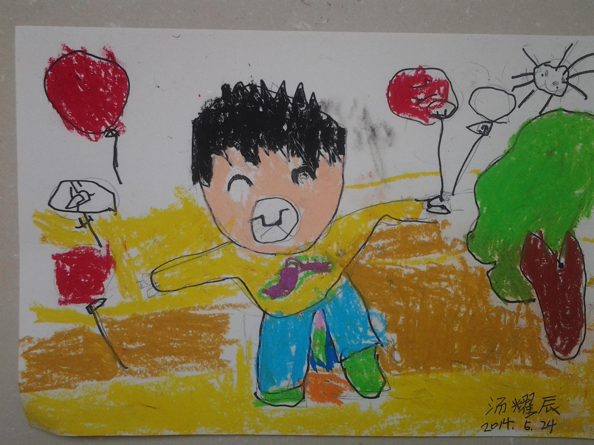 小男孩-蜡笔画图集图片_儿童蜡笔画_少儿图库_中国