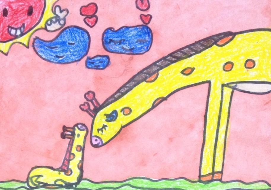 小鹿-蜡笔画图集图片_儿童蜡笔画_少儿图库_中国儿童-妈妈 蜡笔画图