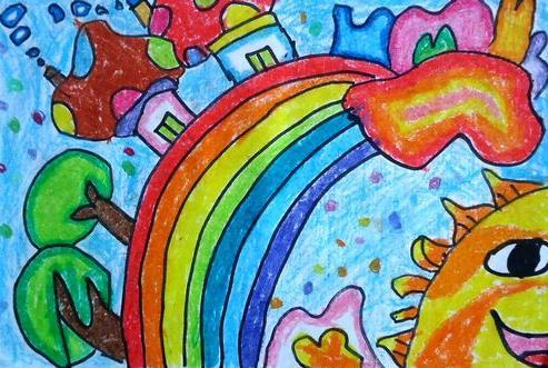 彩虹-蜡笔画图集