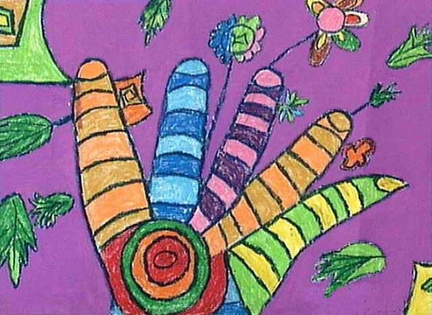 手指-蜡笔画图集图片_儿童蜡笔画_少儿图库_中国儿童
