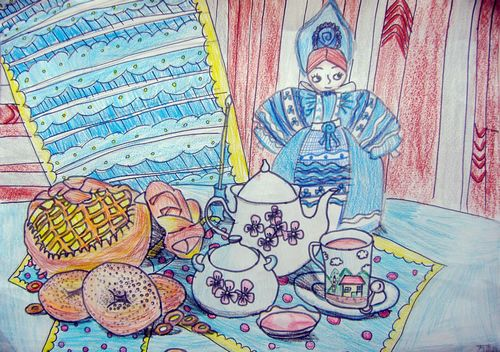早餐-蜡笔画图集图片_儿童蜡笔画_少儿图库_中国儿童
