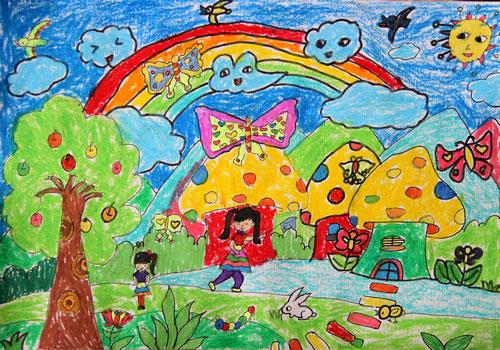 春游-蜡笔画图集图片_儿童蜡笔画_少儿图库_中国儿童
