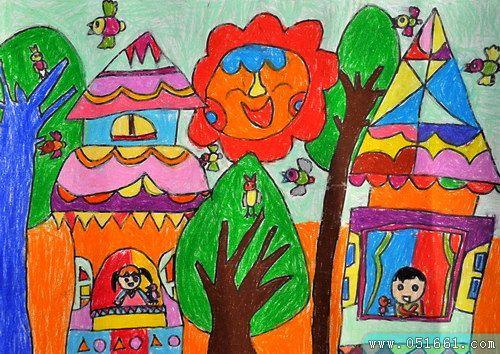 森林-蜡笔画图集