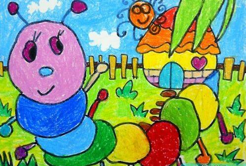 毛毛虫-蜡笔画图集