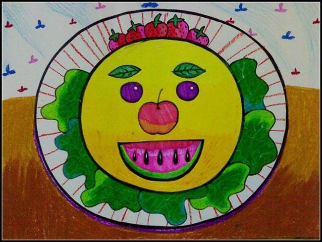 水果-蠟筆畫圖集圖片_兒童蠟筆畫_少兒圖庫_中國兒童