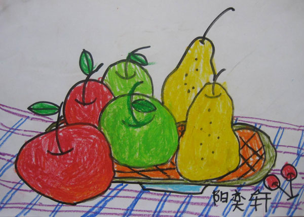 水果-蜡笔画图集图片_儿童蜡笔画_少儿图库_中国儿童图片
