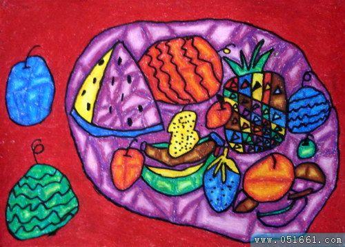 水果-蜡笔画图集