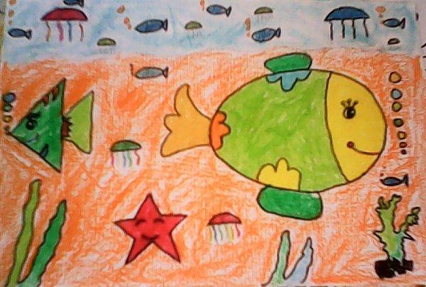 海底世界-蜡笔画图集