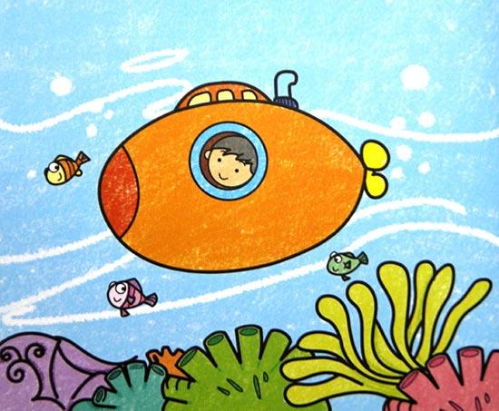 海底世界-蜡笔画图集图片