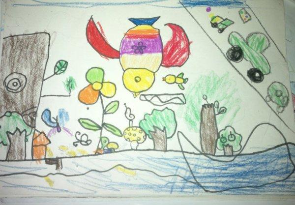海边-蜡笔画图集图片_儿童蜡笔画_少儿图库_中国儿童