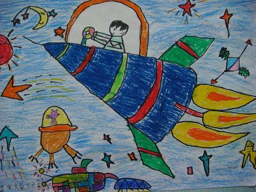 火箭-蜡笔画图集图片