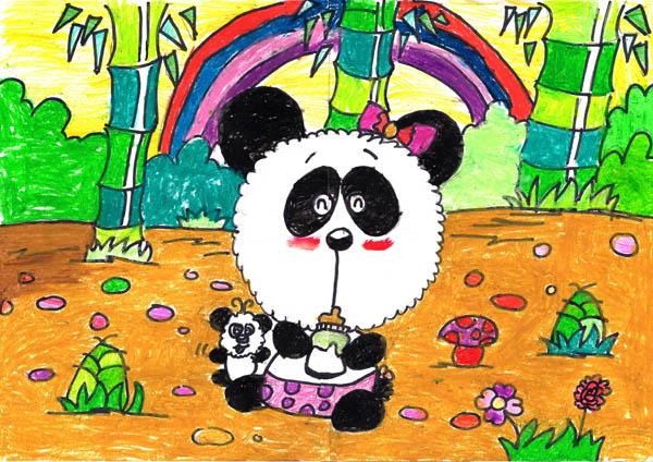 熊猫怎么画才可爱好看背景
