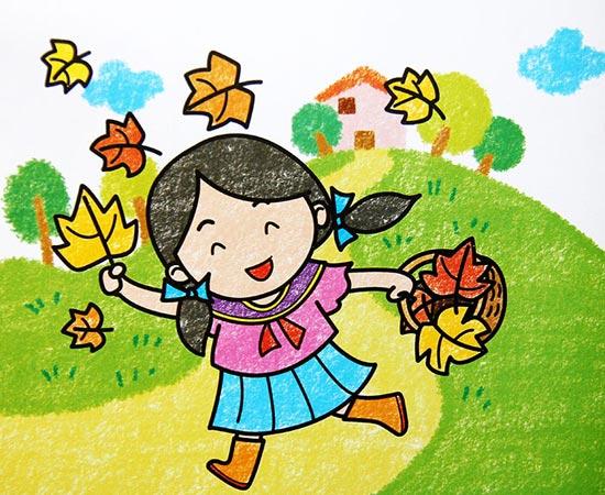 秋天-蜡笔画图集