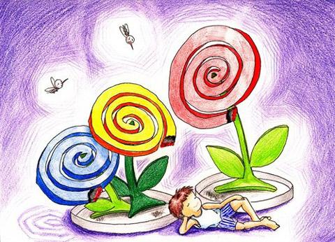 童年-蜡笔画图集