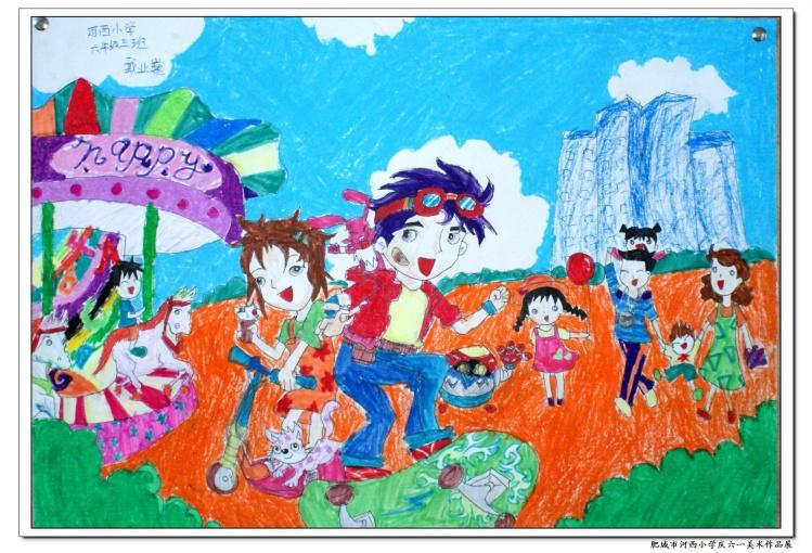 童年-蜡笔画图集图片_儿童蜡笔画