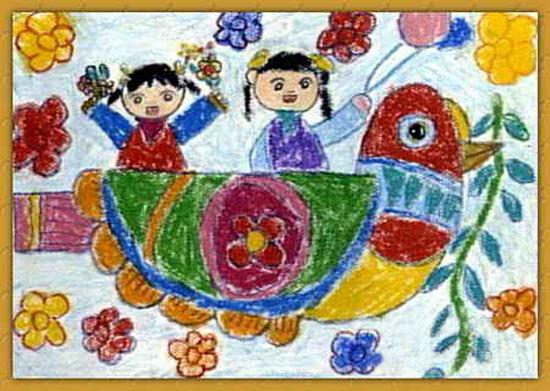 船-蜡笔画图集图片_儿童蜡笔画_少儿图库_中国儿童