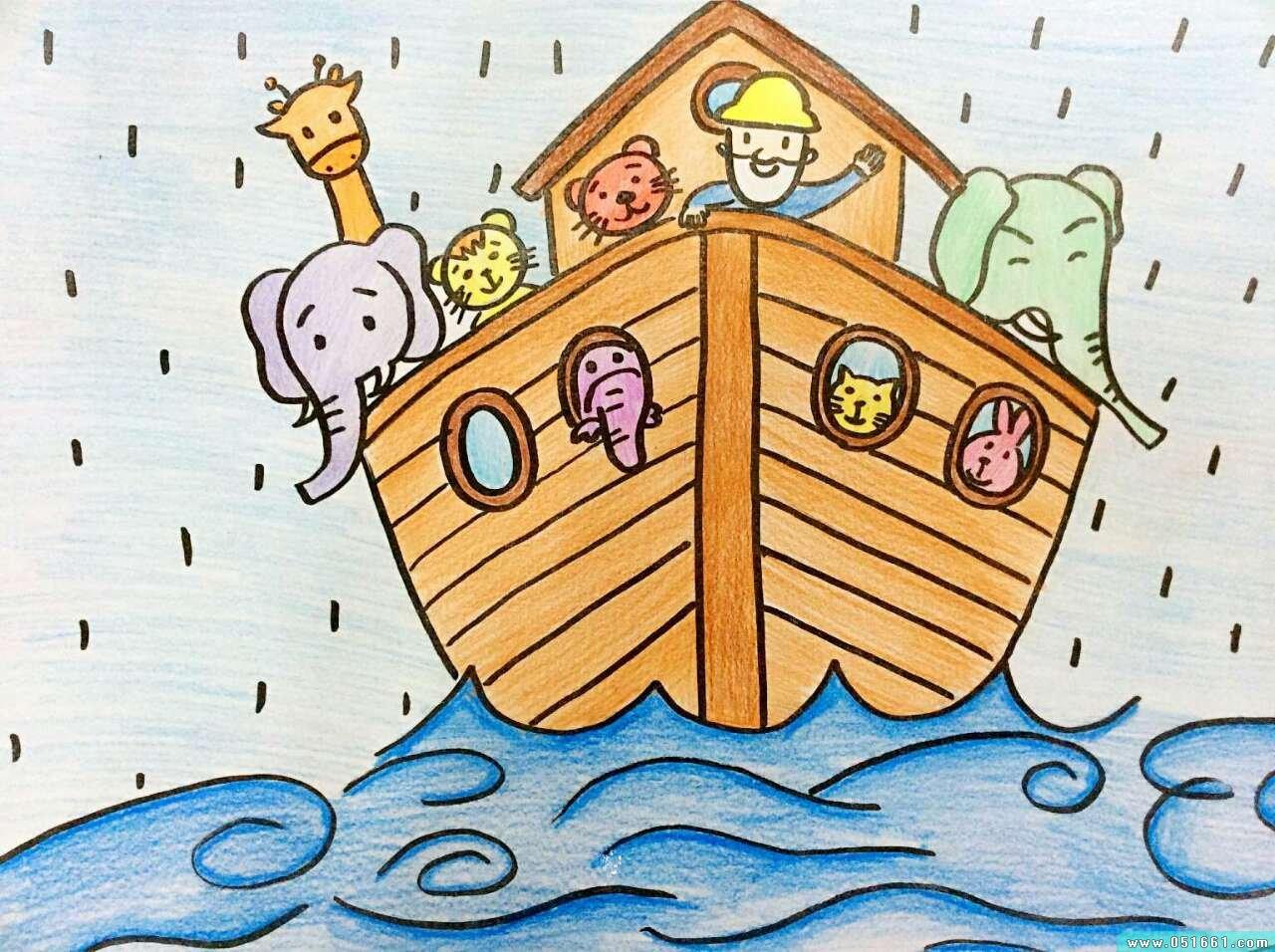 船-蜡笔画图集